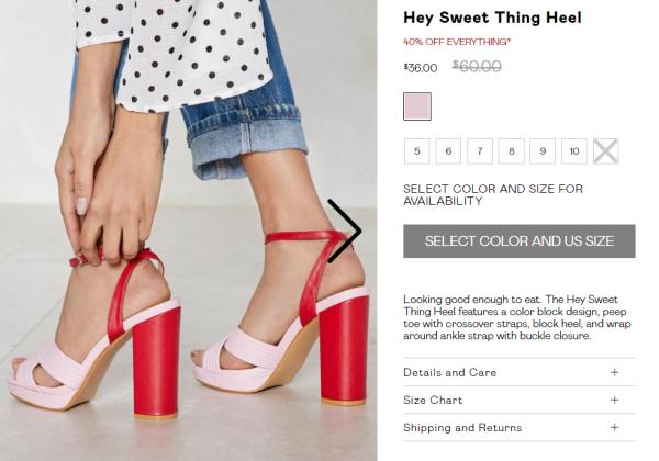 Nasty Gal Heels Description